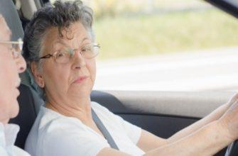 Пенсионер в автомобиле