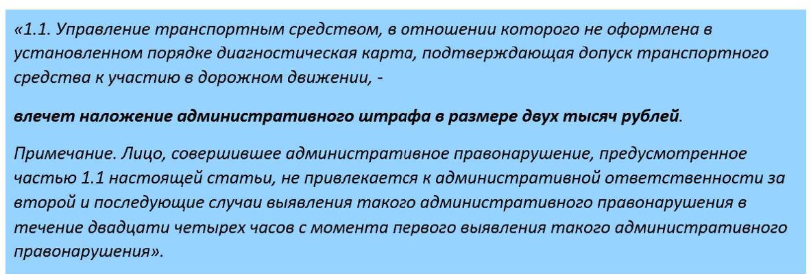 Скриншот ч.1.1, ст.12.1, КоАП РФ